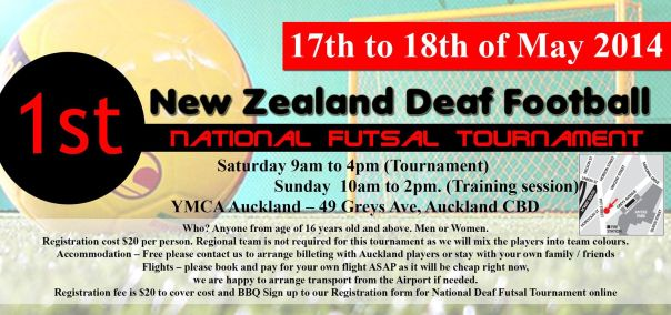 NZDF 1st Tournament flyer