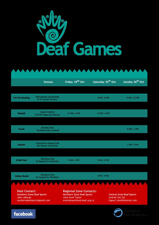 NZDG 2014 Timetable Poster